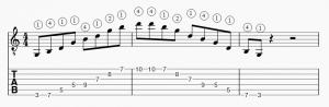 Arpege G majeur position 1 horizontale