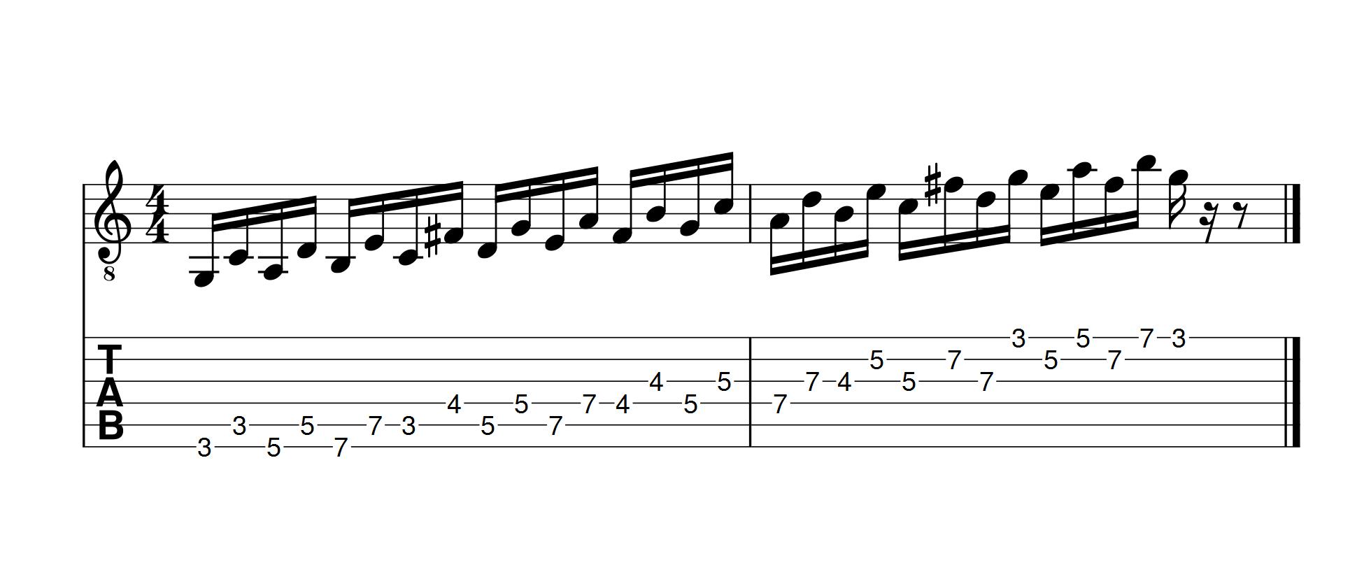 gamme-majeure-jouée-avec-des-ecart-de-4-notes
