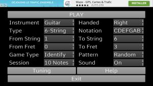 Fretboard learn - Paramètres